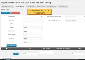 PRODUCT BULK AND INLINE EDITING ONE SCREEN