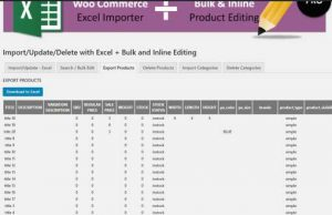 EXPORT PRODUCTS TO EXCEL