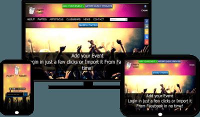 partyfinder | events publishing platform