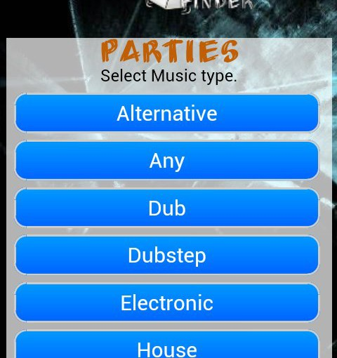 partyfinder android application
