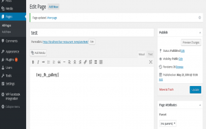 wordpress fb integration add shortcode