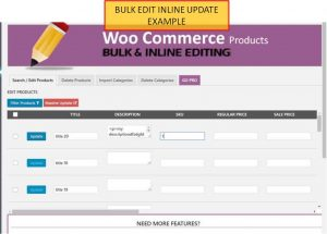 Woocomerce Product Edit Inline Example