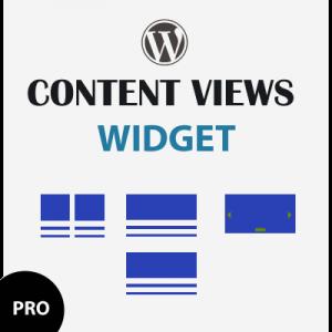 wordpress conent views widget pro